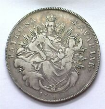 BAVARIA 1764 SILVER TALER MADIONNA & CHILD EXTREMELY FINE +