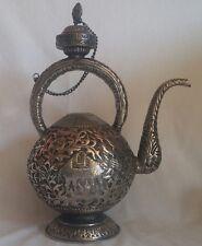 VINTAGE ANTICO? IMPERO OTTOMANO islamico mediorientali CAFFETTIERA DALLAH placcato in argento