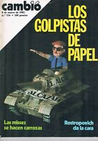 REVISTA CAMBIO 16 NUMERO 536 MARZO 1982 LOS GOLPISTAS DE PAPEL