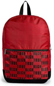 True Religion Men's Logo Block Military Backpack Bag in Ruby Red