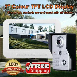 7'' Video Door Bell Phone Doorbell Intercom Monitor Security Camera Night Vision