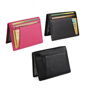 Men Genuine Leather PVC Wallet Coin Card Pocket Real Leather Mini Wallet Purse