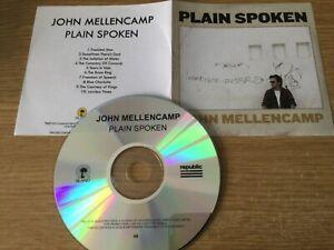 Promotional cd album- John Mellencamp – Plain Spoken