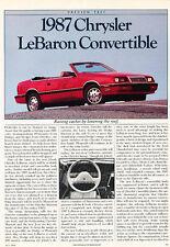Repair manuals literature for chrysler lebaron ebay 1987 chrysler lebaron convertible classic article d128 fandeluxe Gallery