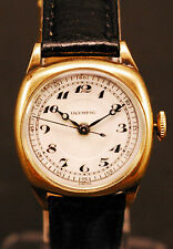 Vintage Olympic Women's Cushion Watch Serviced Gold Filled Lizard Band Hand-Wind