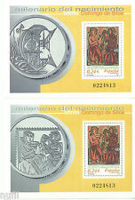 Spain  Edifil # 3818/3819 ** MNH Set Santo Domingo De Silos Misma numeración