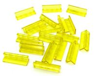 Lego Lot of 20 New Trans-Yellow Panel 1 x 4 x 1 Transparent Pieces