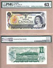 1973 $1 Bank of Canada Multi Color Million Serial# Note 6000000 PMG CH UNC63 EPQ
