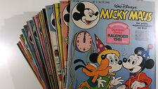 AUSWAHL = Micky Maus Comic Hefte 1981 Nr. 1 - 53 mit / ohne Beilagen
