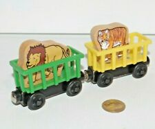 Thomas Friends Wooden Railway Train Tank Engine - 2 Circus Cars w/ Lion & Tiger