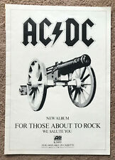 AC/DC - FOR THOSE ABOUT TO ROCK 1981 full page UK magazine ad ACDC