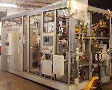 Elwema Cam Cap Assembly Machine With Fanuc M16iB R30iA Robot Bearing covers 2008