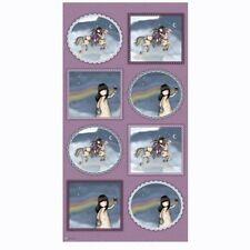 "QT Gorjuss by Santoro Rainbow Dreams 24321 V  - 24"" Panel Cotton Fabric"