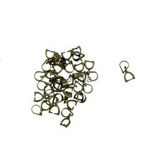 20pcs Vintage Bronze Pinch Clasp Bail Connector Jewelry Findings for Pendant