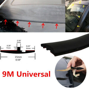 29.5ft Rubber Weather Seal Car Windshield Sunroof Panel Pillar Gap Trim Strip