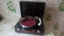 "Vintage USSR 1950"" GRAMOPHONE PHONOGRAPH Portable Record Player - Excellent (EX)"
