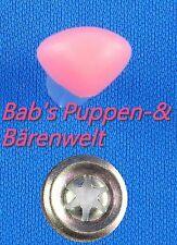 Bärennase Katzennase rosa matt mit Sicherheitsscheibe 18 Mm -