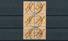 Dt. Neuguinea 25 Pfennig Adler 1897 Sechserblock Michel 5 geprüft (S14583)