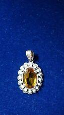 Ciondolo Liberty Arg.925 Topazio giallo-925 Liberty Pendant with Yellow Topaz