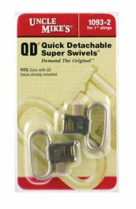 """Uncle Mike's Quick Detach 1"""" Super Sling Swivel Steel Nickel Plated - 1093-2"""