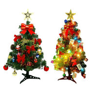 Mini Table Top Christmas Tree Decoration With LED Light Set Home Xmas Party Gift