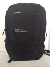 TIMBUK2 Q Solid Black OS Laptop Backpack Adobe Logo - New W/ Tags