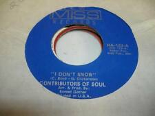 Northern Soul NM! 45 CONTRIBUTORS OF SOUL I Don't Know  on New Miss