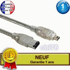 Cable de liaison video firewire DV 6/4 IEEE1394 i.link camescopes mini DV