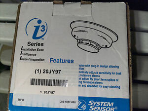 NEW System Sensor i3 Series 2W-B 2-Wire Photoelectric Smoke Detector - FREE SHIP