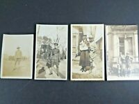 4 WWI Photographs Lot Soldiers In Uniforms World War One A7116