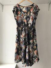 Johnny Was Boho Floral Silk Dress, Size M / AU Size 8-10