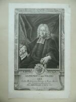 Engraving Portrait D'Alphonse Of Vignoles Per Haid After Liszewski C.1768