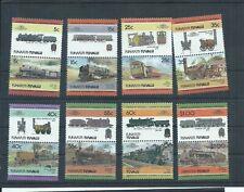 Tuvalu stamps. Funafuti 1984 Trains Locomotives set MNH  (G032)