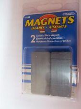 Master Magnetics Ceramic Block Magnets Pk2 07044 New