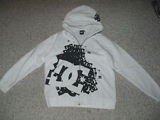 New~NWOT~Men's Boy's DC Warm Full Zipper Hoodie Jacket~White  / Black ~ Size M
