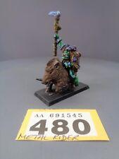 WARHAMMER AGE OF Sigmar orruks Orchi Goblins METAL SAVAGE ORC BOAR SCIAMANO 480