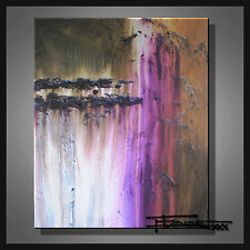 ABSTRACT CANVAS PAINTING LARGE WALL ART Listed by Artist Signed US  ELOISExxx