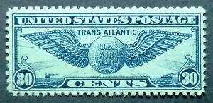 C24 MLH 1939 30c Trans Atlantic Globe & Wings airmail Pan Am Juan Trippe Clipper