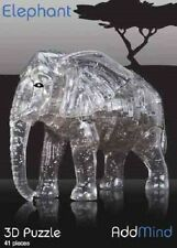 Elephant 3D puzzle 41 pièces puzzle-crystal mind game challenge teaser nelly