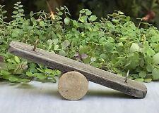 Miniature Dollhouse FAIRY GARDEN Accessories ~ Rustic Wood Seesaw Teeter Totter