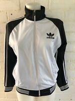 Women's Adidas Originals Track Top Size 18 Black White Jacket