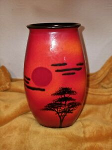 """Beautiful Poole Pottery 'African Sky' 25.5cm - 10."""" tall Vase - VGC"""