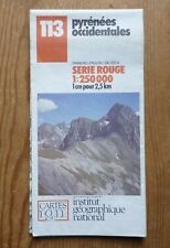 Carte Touristique IGN 113 - Pyrénées Occidentales - 1:250 000 de 1989