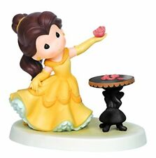 PRECIOUS MOMENTS Disney BEAUTY AND THE BEAST BELLE Holding Rose He Loves Me NEW
