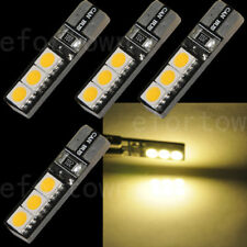 4pcs Canbus T10 194 168 W5W 5050 6 LED SMD Warm White Car Side Wedge Light Bulb