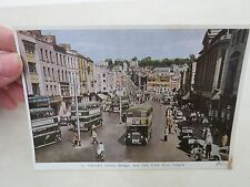 ST. PATRICK'S STREET CORK CITY IRELAND DOWNTOWN VIEW DOUBLE DECKER BUS POSTCARD
