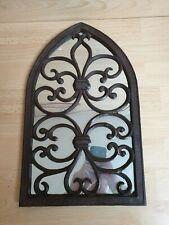 Metal Church Gothic Window Style mirror vintage retro cast iron