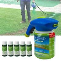 Household Seeding System Liquid Spray Seed Lawn Care Grass Shot w/ 5 Liquids