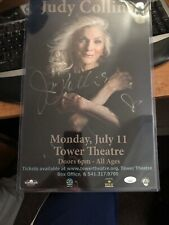 RARE!!! Signed!!! Judy Collins concert poster, Tower Theatre Bend Oregon