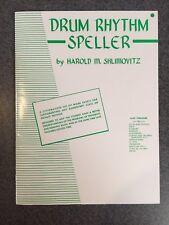Drum Rhythm Speller - Harold M. Shlimovitz Book !
